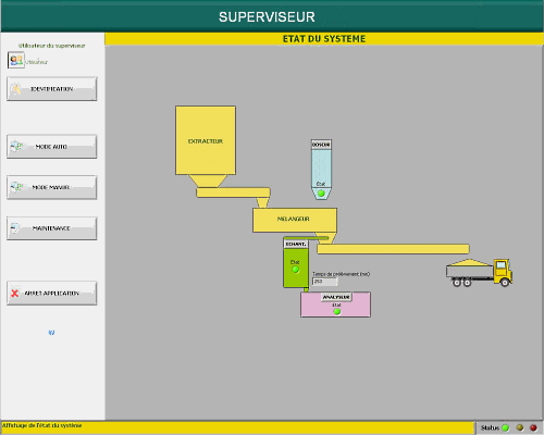 LabVIEW : Software for the supervising of the sand quality control