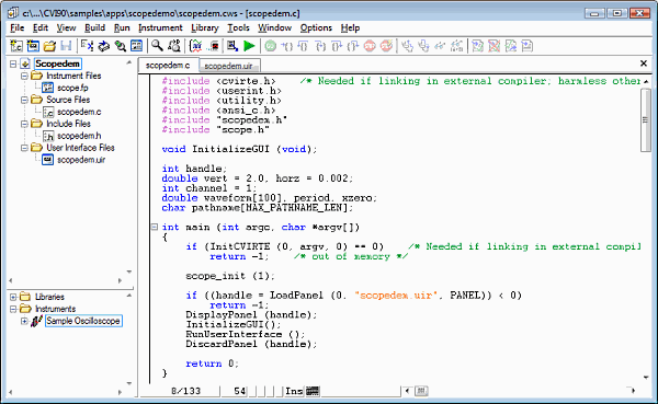 labwindows-cvi-screenshot-code